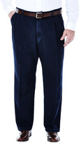 Haggar Big & Tall Work to Weekend Denim - Classic Fit, Pleat Front, Hidden Expandable Waistband
