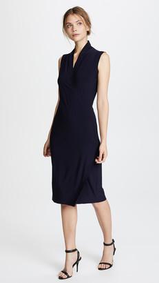 Norma Kamali Sleeveless Side Drape Dress