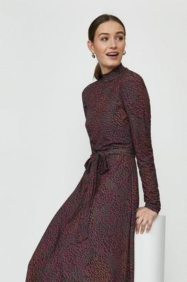 Coast Printed High Neck Midi Dress