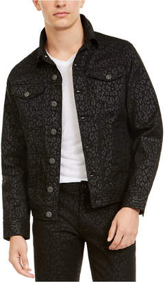 INC International Concepts Inc Men Animal Print Trucker Jacket