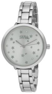 Bob Mackie Women's Silver-Tone Alloy Bracelet Link Watch, 36mm