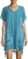 Seafolly Cross Stitch Embroidered Kaftan Coverup