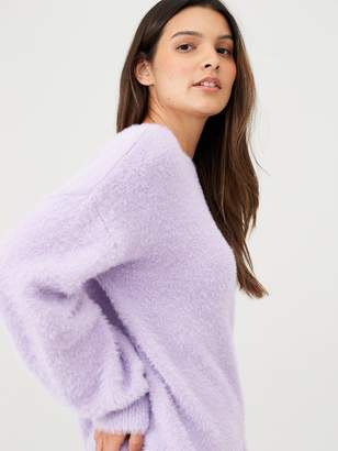 Very Fluffy Crew Neck Jumper - Lilac