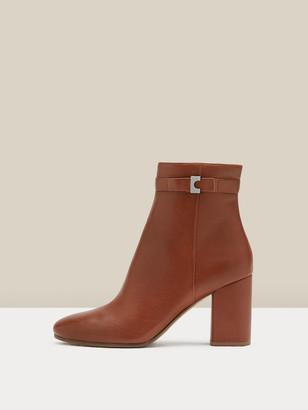 Diane von Furstenberg Rhonda Leather Ankle Boots