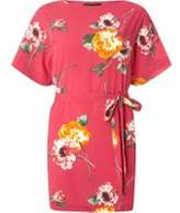 Dorothy Perkins Womens Pink Floral Tie Tunic- Pink