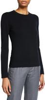 Agnona Cashmere Tubular-Finish Crewneck Sweater