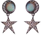 EYE M by Ileana Makri Opal Moon Star Earrings