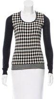 Prada Printed Scoop Neck Sweater