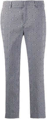 Pt01 Geometric Patterned Cropped Trousers