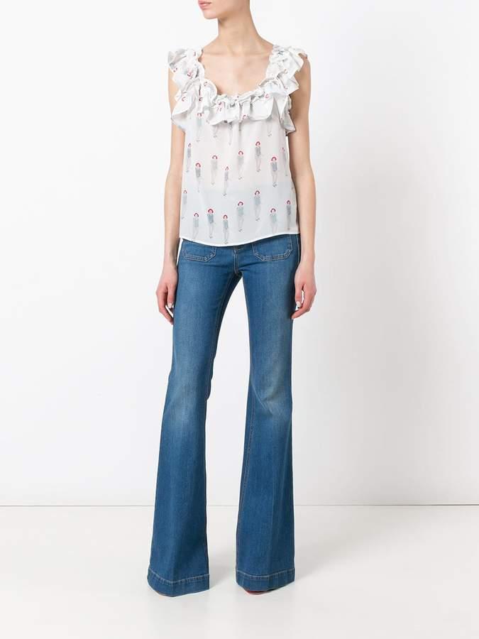 Dondup ruffled neck blouse