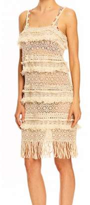 Nicole Miller Bobo Fringe Multi Laces Tank Dress