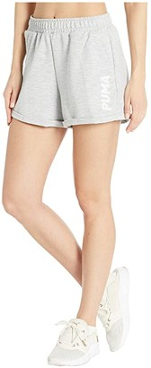 Puma 3 Modern Sports Shorts (Light Gray Heather) Women's Shorts