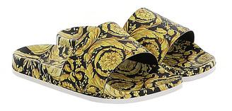 Versace Kid's Barocco-Print Pool Slide Sandals