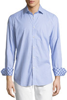 Neiman Marcus Mini Check-Print Long-Sleeve Sport Shirt