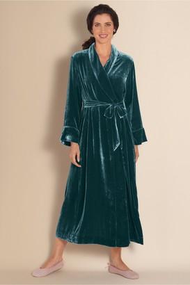 Soft Surroundings Petites Silk Velvet Robe I