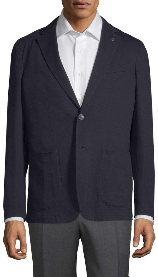 Canali Men's Cotton Blend Sport Jacket