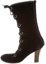Cacharel Suede Lace-Up Ankle Boots