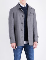 Brunello Cucinelli Button-up wool raincoat