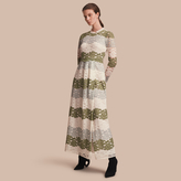 Burberry Floor-length Floral Lace Dress
