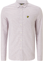 Lyle & Scott Tattersall Long Sleeve Shirt, White