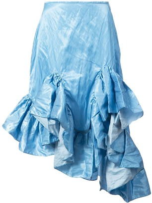 Marques Almeida Ruffled Hem Skirt