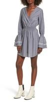 BP Women's Ruffle Sleeve Surplice Dress