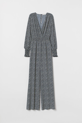 H&M Jumpsuit with Smocking - Blue