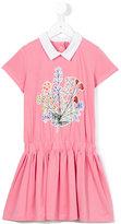 Fendi floral print dress - kids - Cotton/Spandex/Elastane - 3 yrs