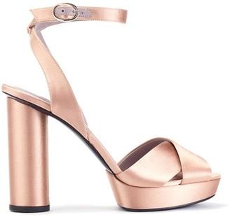 Oscar de la Renta Satin Dasha Platform Sandals