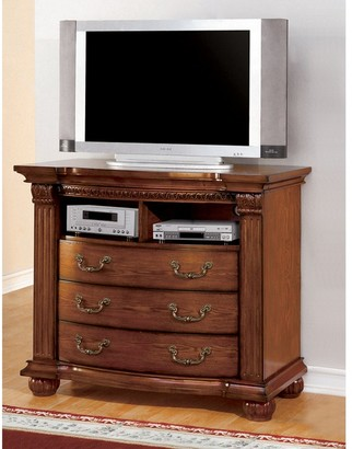 Furniture of America Sern Traditional 47-inch Oak Media Chest