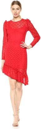 The Fifth Label Women's Pavillion Lace Longsleeve Asymmetrical Illusion Dress