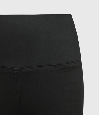 AllSaints Cora High-Rise Zip Denim Leggings, Black