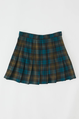 Urban Renewal Vintage Recycled Pleated Plaid Mini Skirt