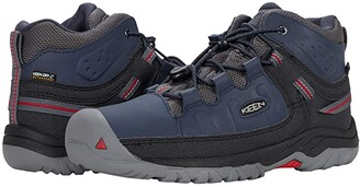 KEEN Kids Targhee Mid WP (Little Kid/Big Kid) (Blue Nights/Red Carpet) Boy's Shoes
