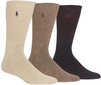 Polo Ralph Lauren Men 3-Pk. Twisted Crew Casual Socks