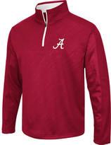 Men's Stadium Alabama Crimson Tide College Embossed Sleet Quarter-Zip Pullover
