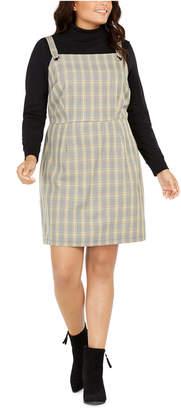 BeBop Trendy Plus Size Plaid Jumper Dress