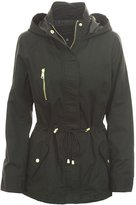 Miss London Ladies Long Anorak Jacket with Hood Coat