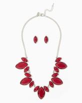 Charming charlie Shimmering Bib Necklace Set