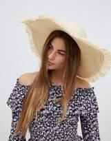 Glamorous Straw Hat With Frayed Edge