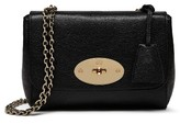 Mulberry Lily Glossy Leather Crossbody Clutch - Black