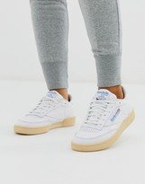 Reebok Club C sneakers in white and gum