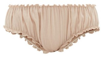 Loup Charmant Bloomer Organic-cotton Briefs - Womens - Light Pink