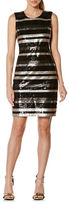 Laundry by Shelli Segal Striped Sequin Dress