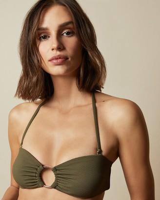 Ted Baker Circle Ring Bandeau Bikini Top