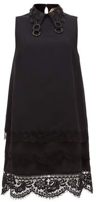 No.21 No. 21 - Bead-embellished Cady Mini Dress - Womens - Black