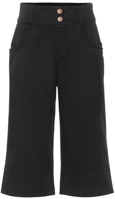 See by Chloe High-rise stretch-cotton shorts
