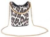 Stella McCartney 'Small Ring' Leopard Print Faux Calf Hair Crossbody Bag - Ivory