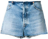 IRO denim flare shorts