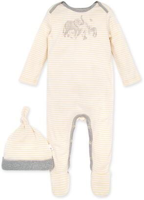 Burt's Bees Ello Elephant Graphic Organic Baby Jumpsuit & Hat Set